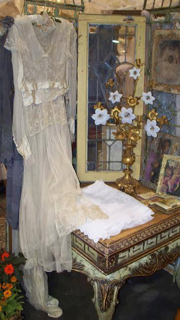 Exquisite French Wedding Dress Circa 1899
