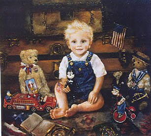 Vintage Americana Custom Oil Portraiture by Corinne Layton