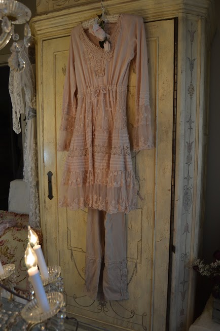 Jeanne d'Arc Living Soft Cotton&Lace Dusty Rose Dress/Top