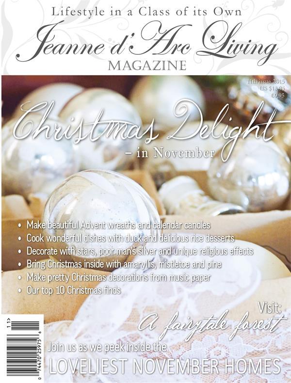 Jeanne d'Arc Living NOVEMBER 2015 Issue #11 PREORDER