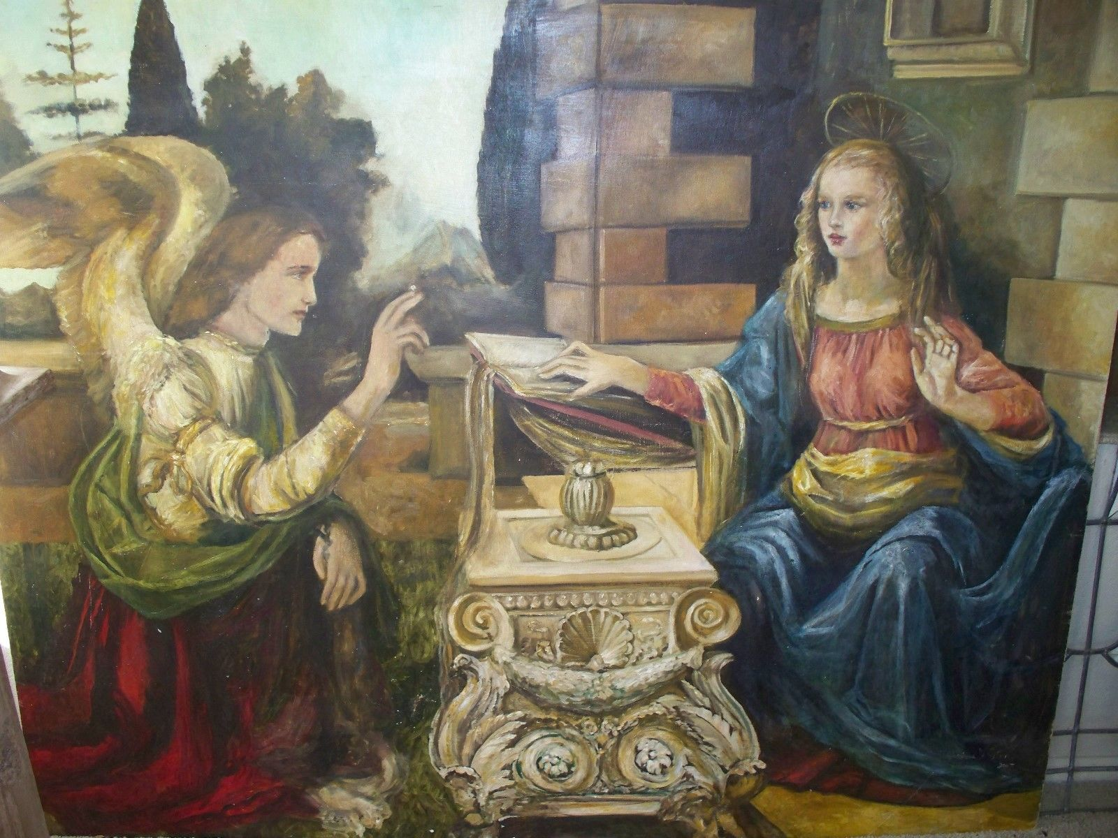 The Annunciation Poca Distanza Canvas Print 24 x 36