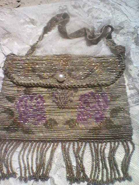 Vintage French Beaded Purse early 1900's
