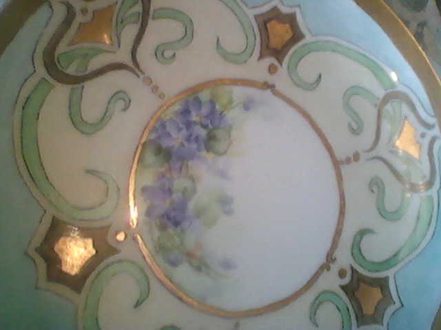 Vintage French Gold Designed  Art  Nouveau Plate