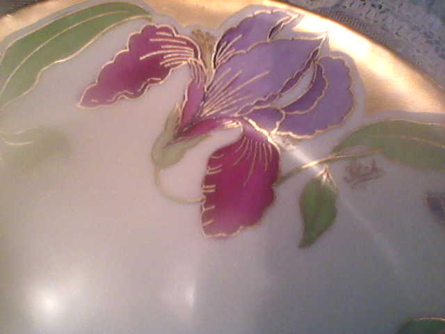 Art Nouveau Prussia Plate, Hand Painted Rothenstadt (signed)circa early 1900's