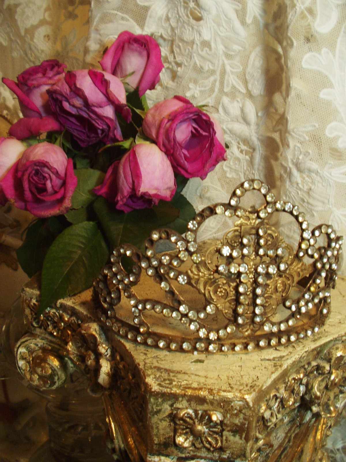 Vintage French Style Cross Crown 1800s Replica
