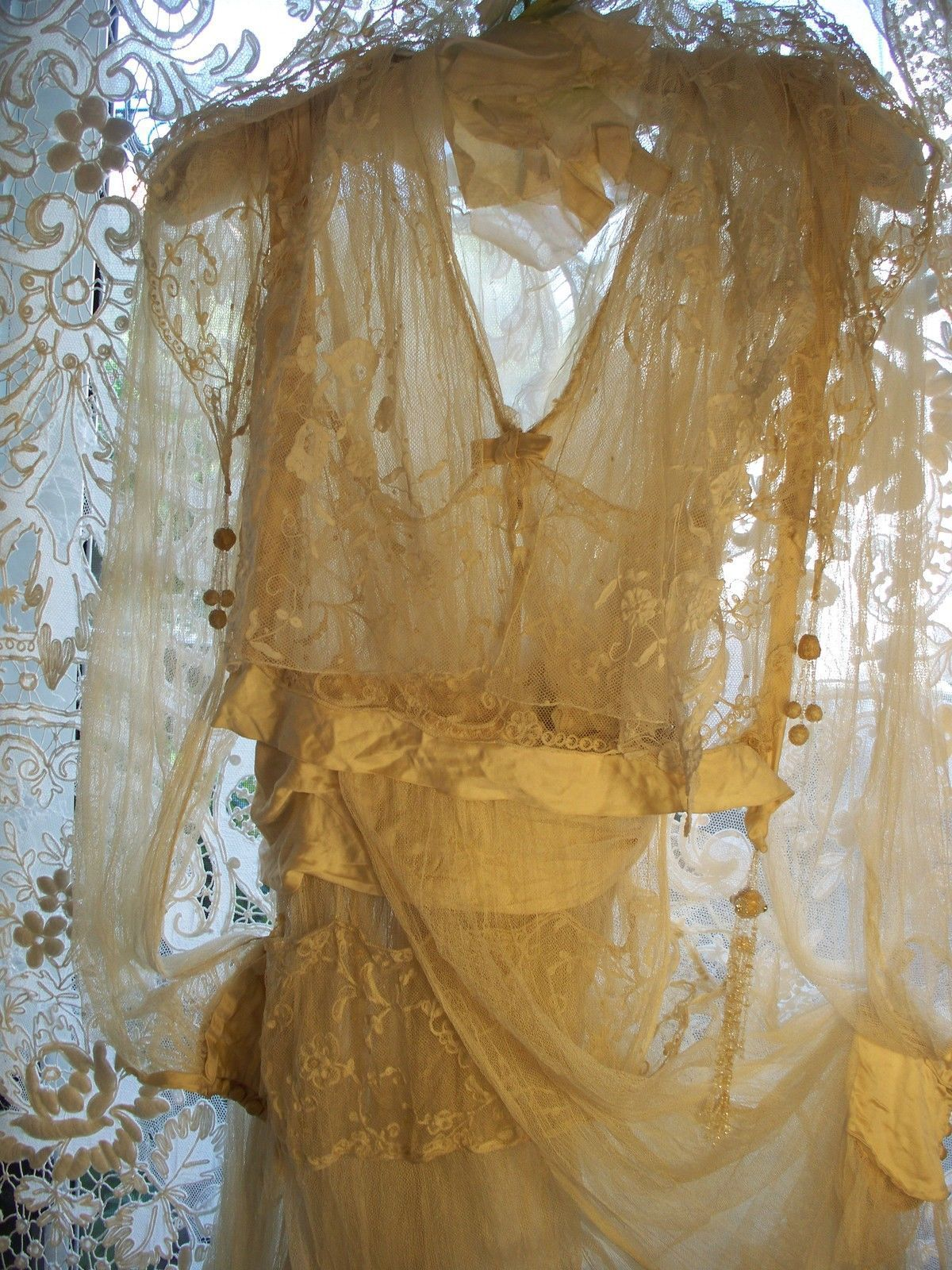 Exquisite French Wedding Dress Circa 1899
