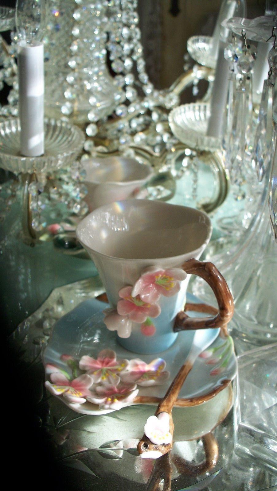 Lovely Garden Cherry Blossom Tea Set