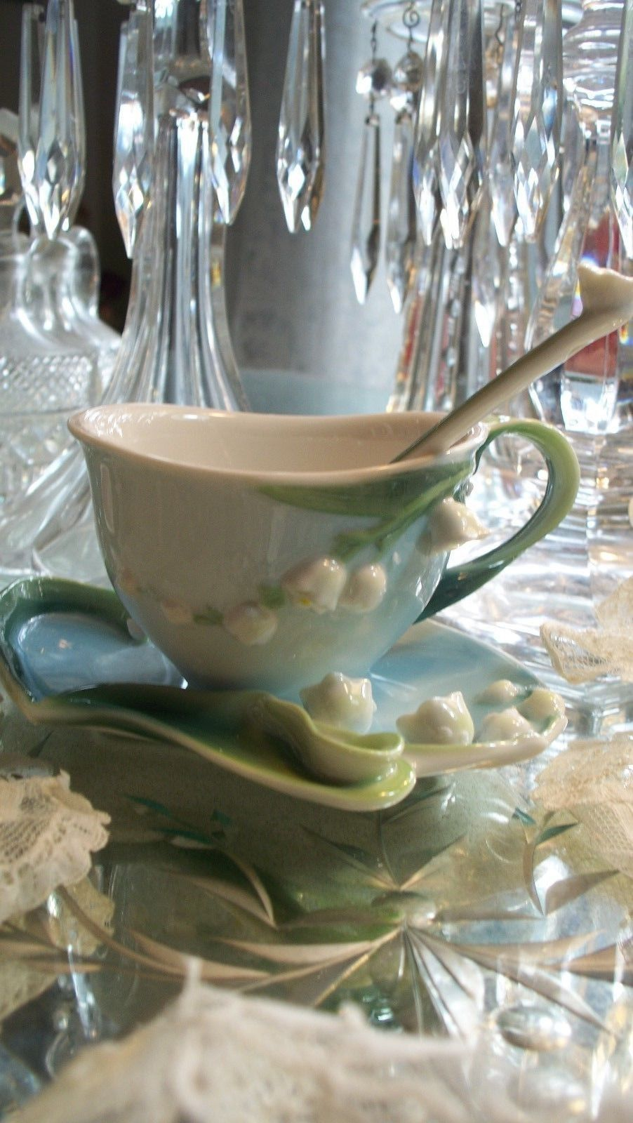 Lovely Garden Lily of the Valley Tea Set