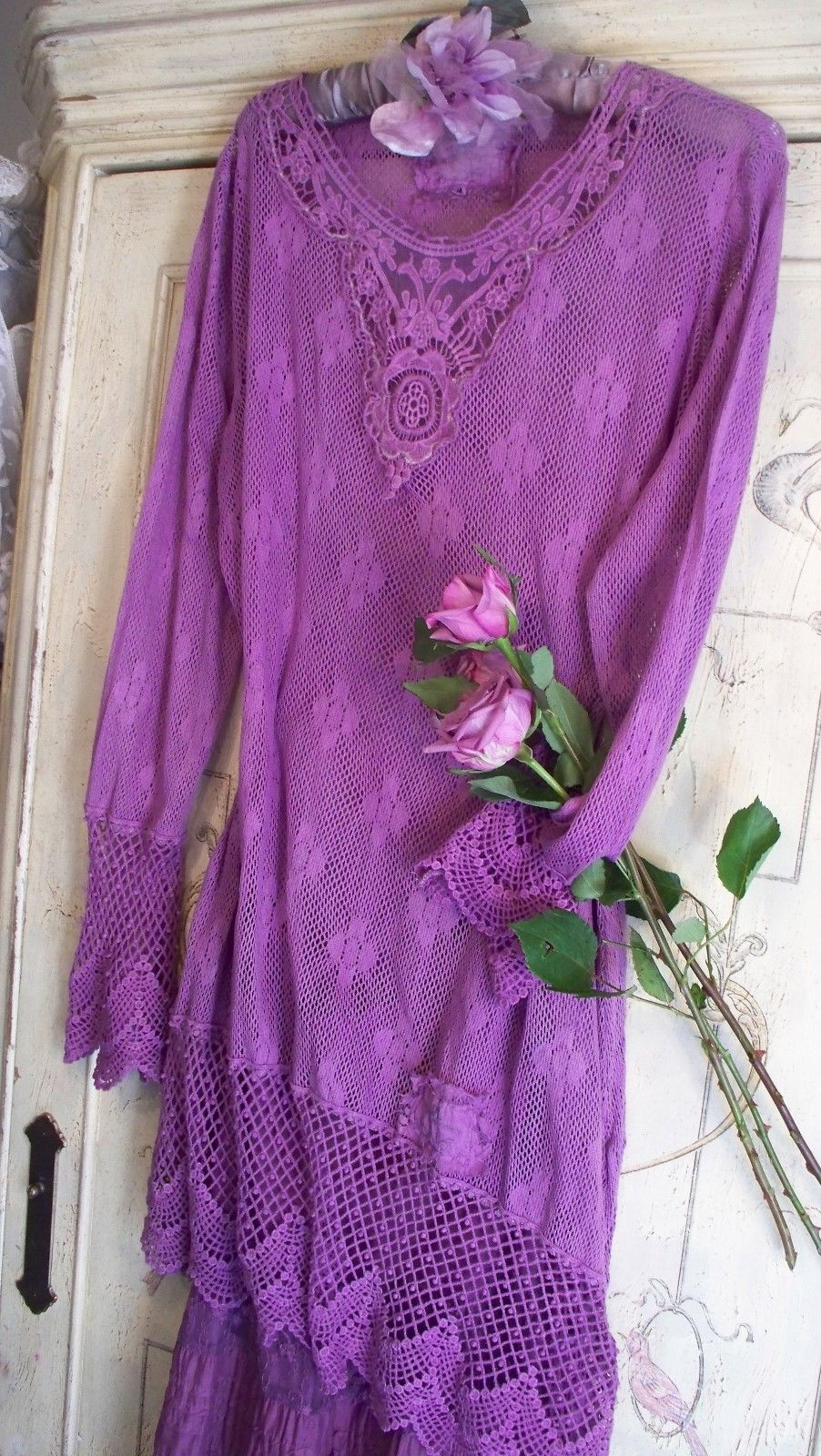 Jeanne d'Arc Living Lagenlook Dress/Top French Lilac Color  by Us! Med or XXL Only