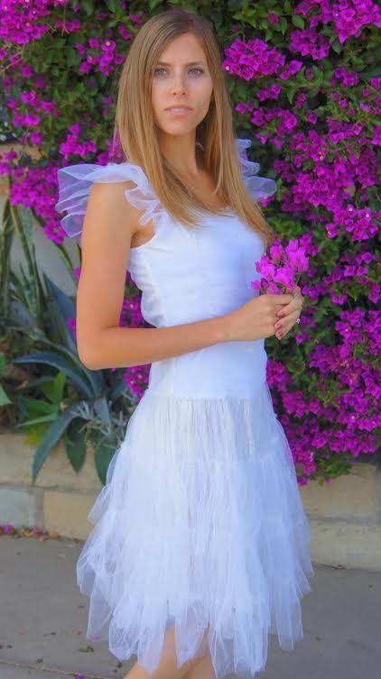 Jeanne d'Arc Living Vintage Tulle Dress White