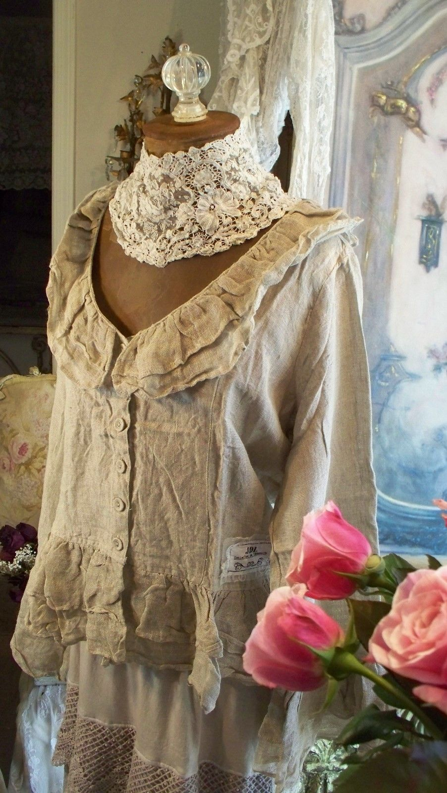 Jeanne d'Arc Living Linen Ruffled Prarie/Style Jacket Just Arrived!