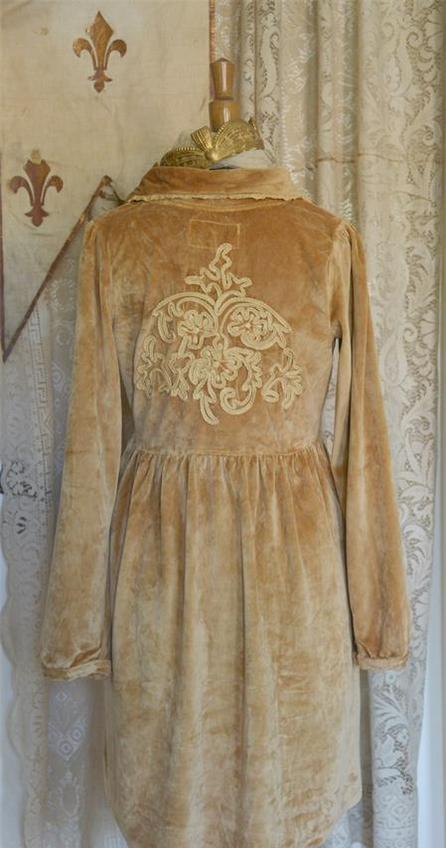 Jeanne d'Arc Living Fleur de Lis Caramel Velour Jacket