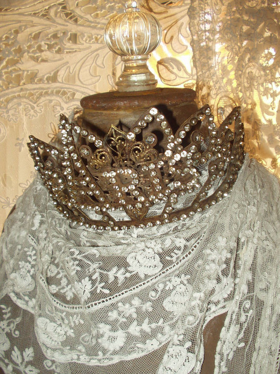 SOLD Vintage French PARIS CROWN 1800's Replica Style
