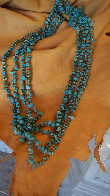 Soutthwest Turquoise Necklace 4 strand