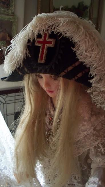 Antique French Napolean Style Hat from the 1800s