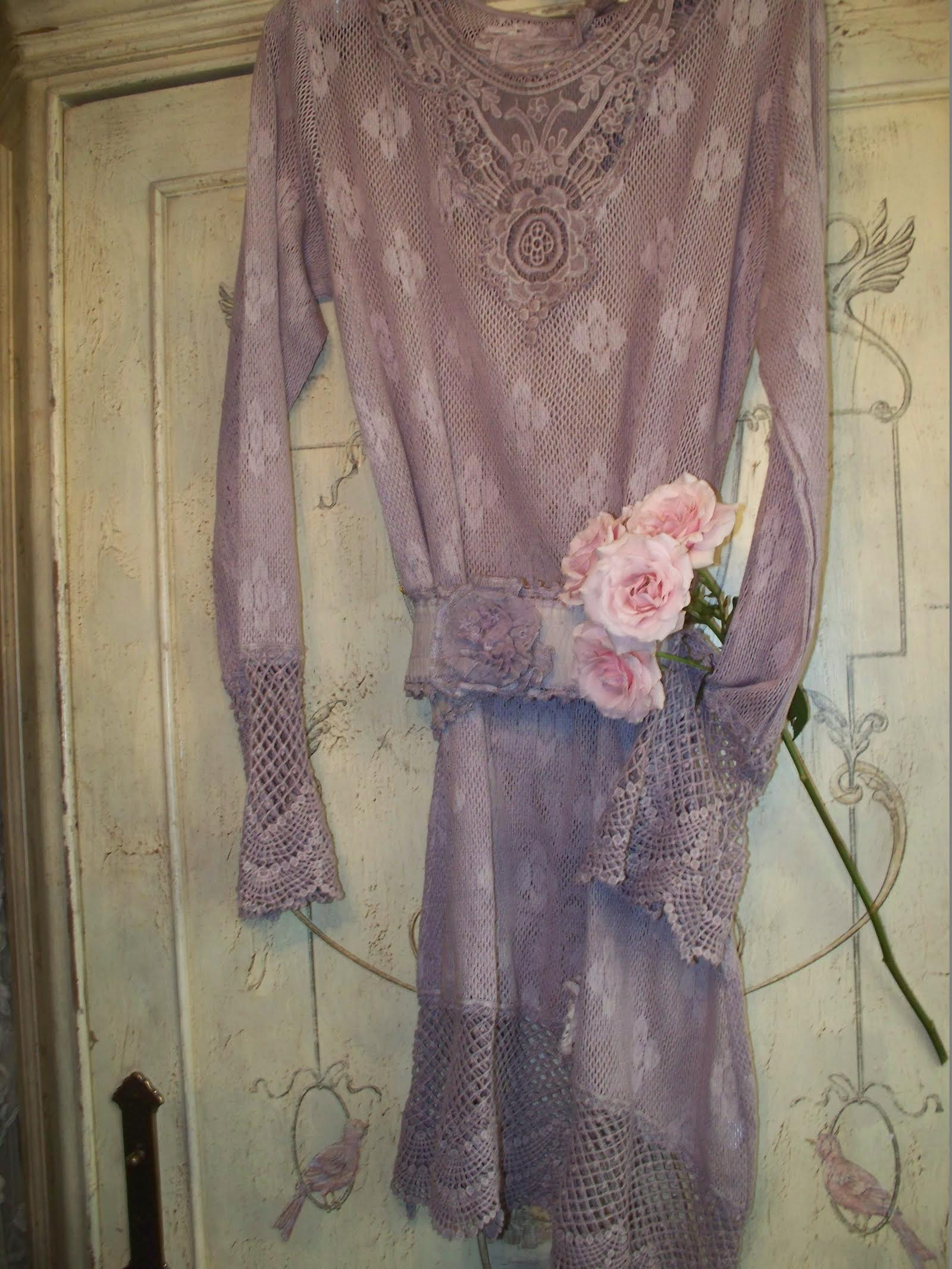 Jeanne d'Arc Living Lace Top/Dress Romantic Light Plum(Sale)