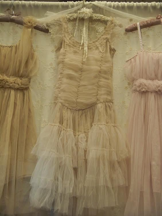 Jeanne d'Arc Living Vintage Tulle Dress w/Pearls