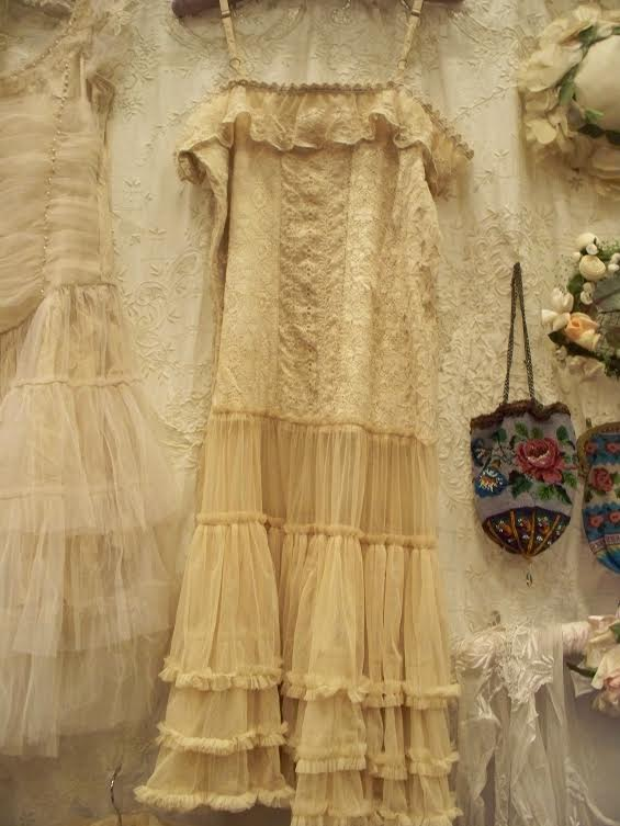 Jeanne d'Arc Living Vintage Tulle Dress  Antique/Lace